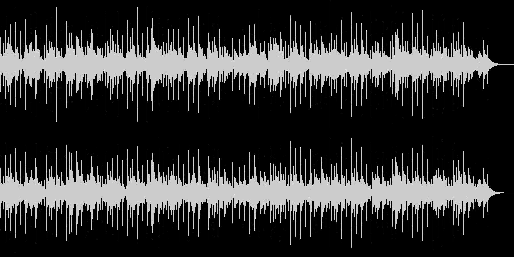 ほのぼのした雰囲気のシンプルなシンセ曲の未再生の波形