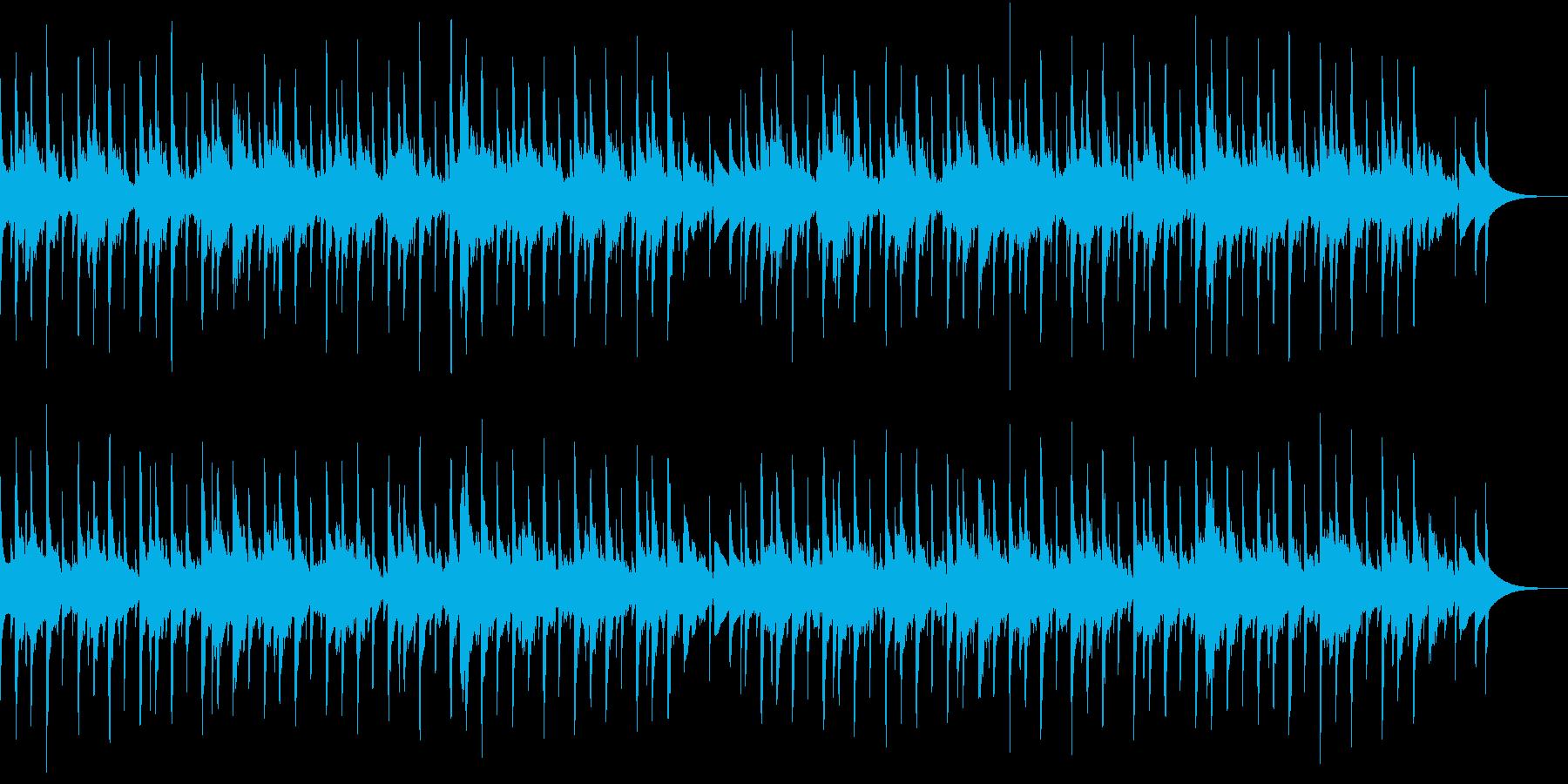 ほのぼのした雰囲気のシンプルなシンセ曲の再生済みの波形