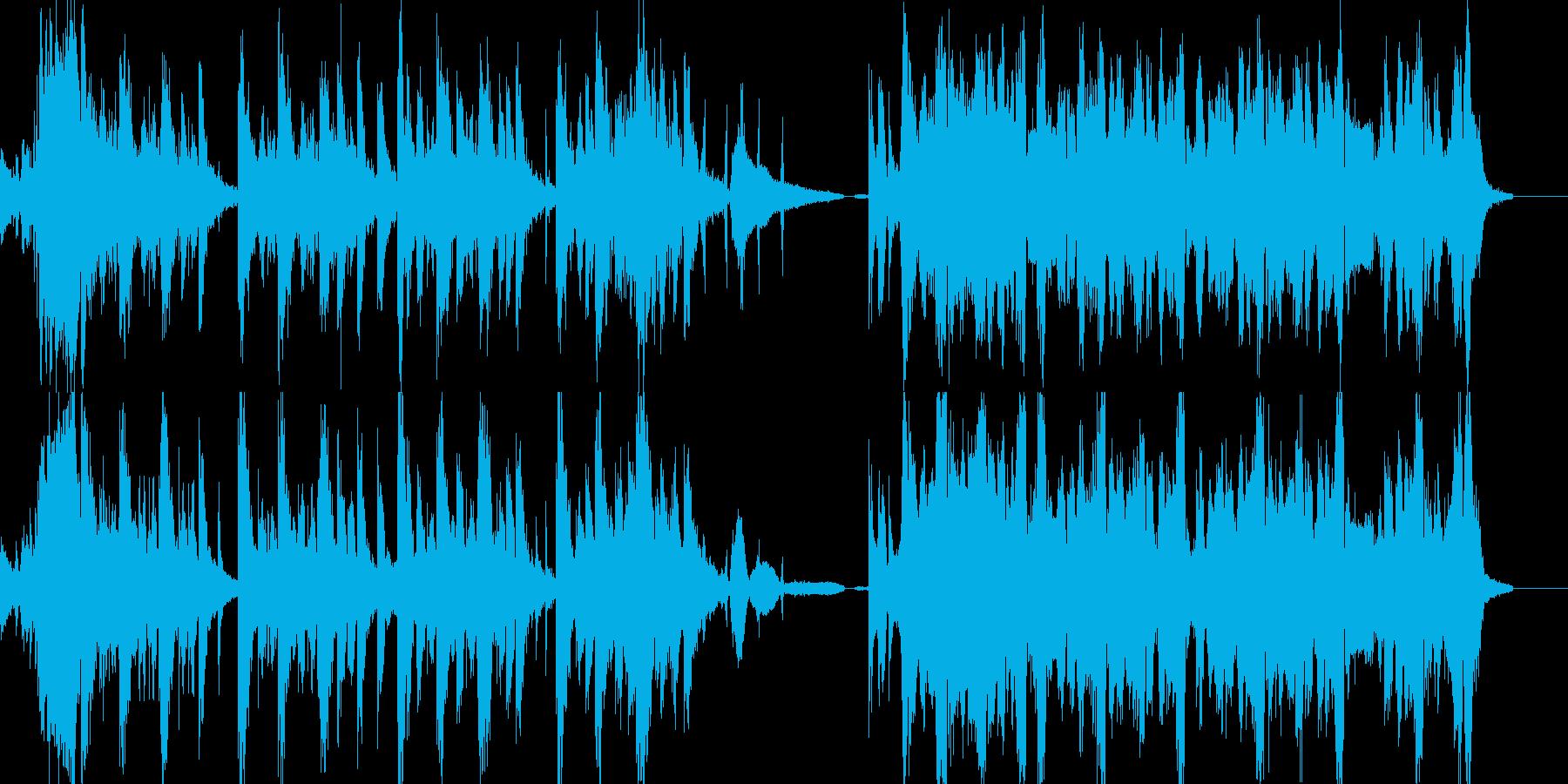 軽快なストリングスを合わせたビート CMの再生済みの波形