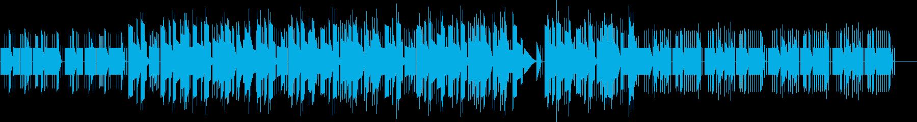 アナログシンセのチープなジングルの再生済みの波形