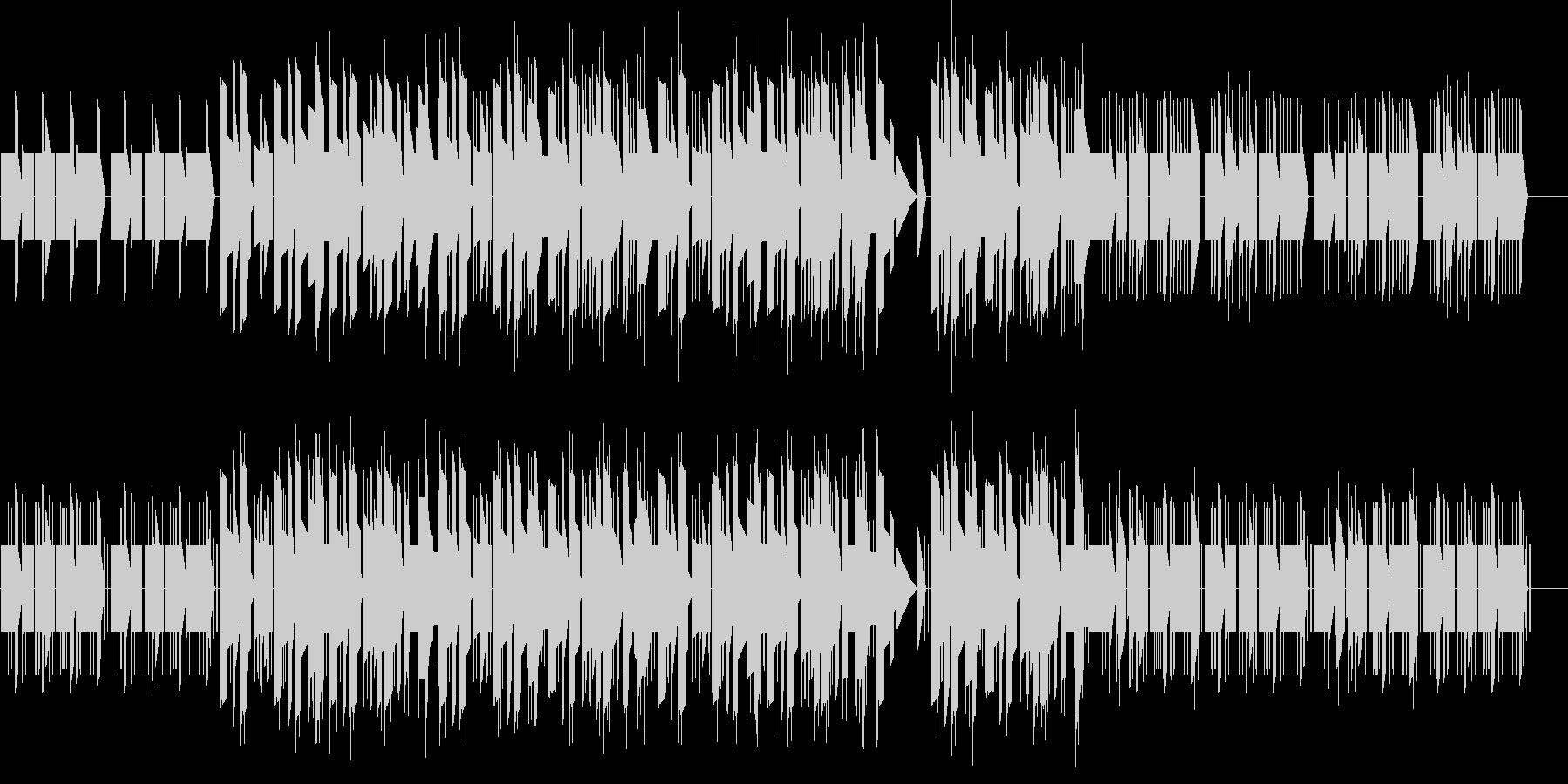 アナログシンセのチープなジングルの未再生の波形