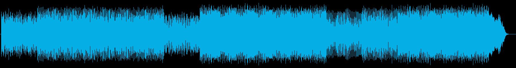 リズム感があり疾走感のあるテクノの再生済みの波形