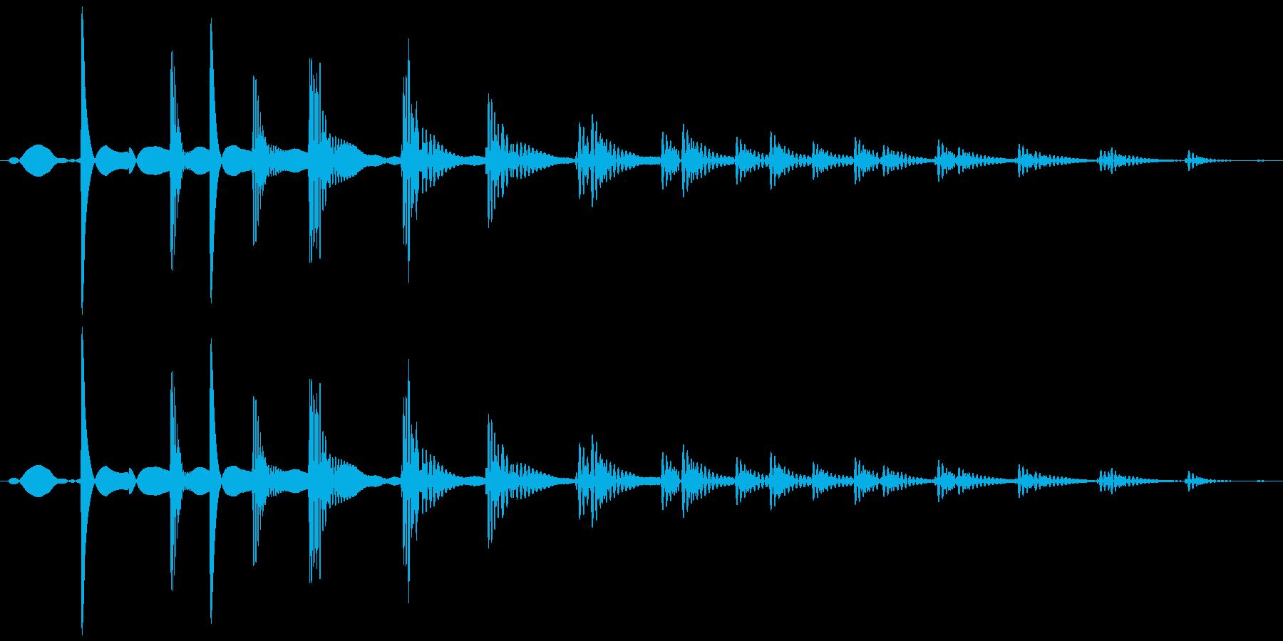 ダメージ (縮む、落とす) テピィォォンの再生済みの波形