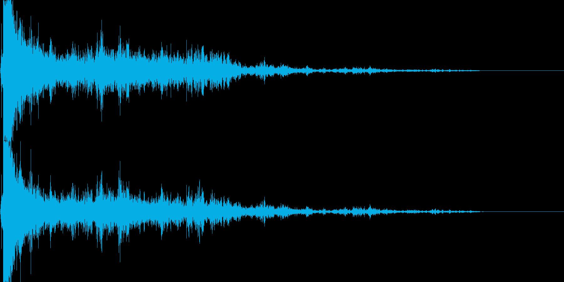 落雷 (ピシャーン…ゴロゴロ…ドーン)の再生済みの波形