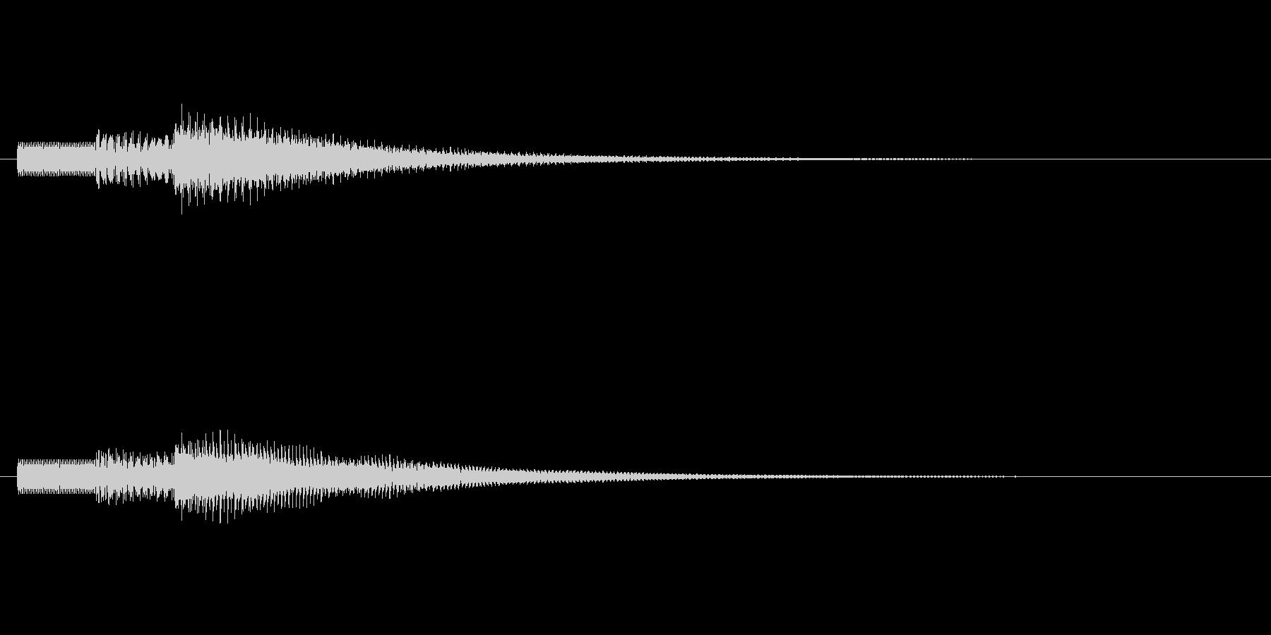 明るい響きの効果音ですの未再生の波形