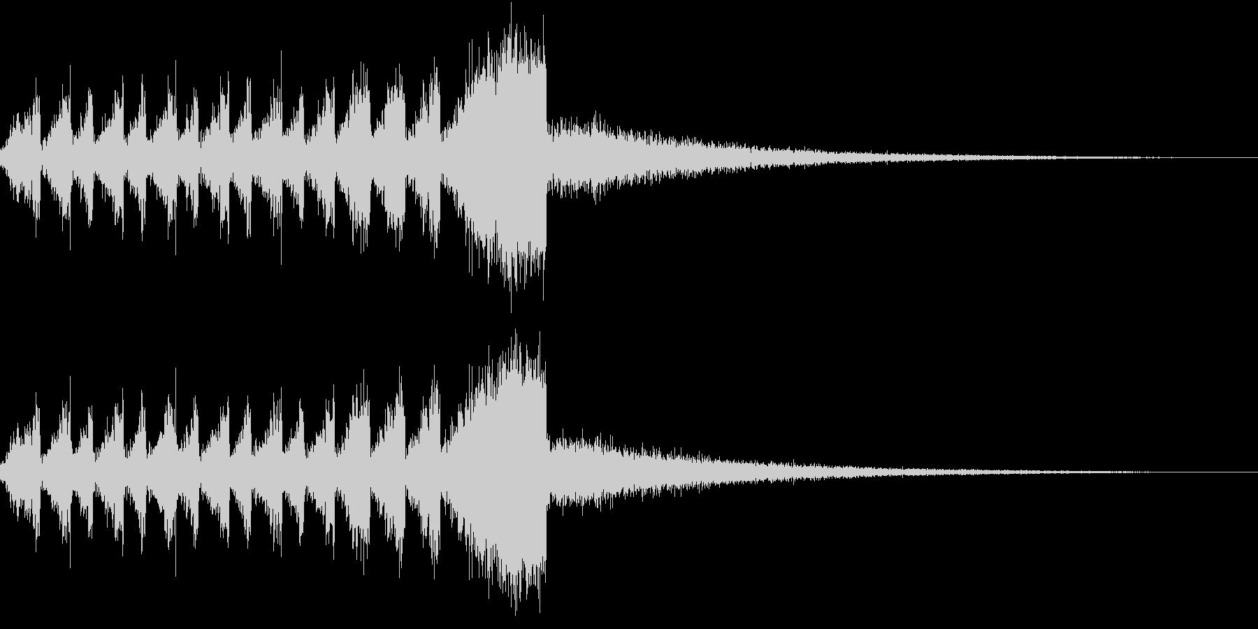 RadioSFX ランキング発表前SEの未再生の波形