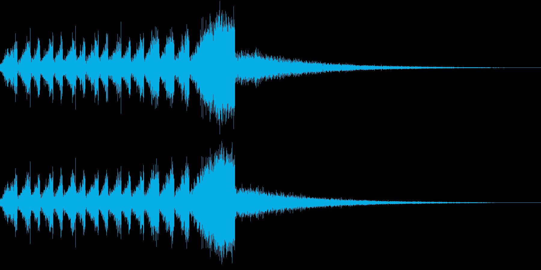 RadioSFX ランキング発表前SEの再生済みの波形