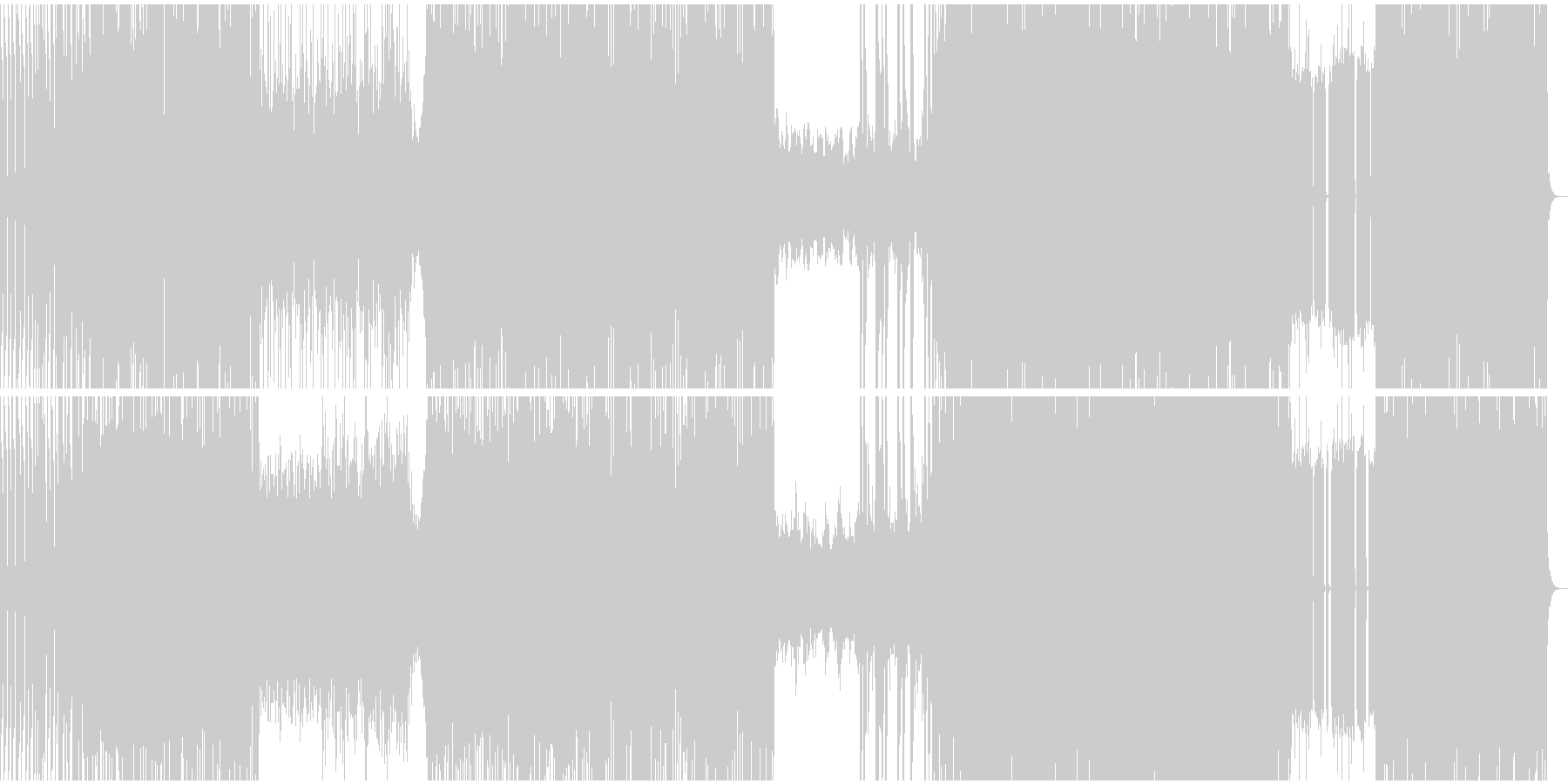 アグレッシブなデジタルロックRPGバトルの未再生の波形