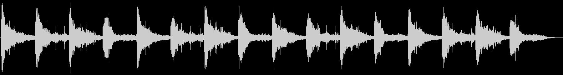 ホラー環境音(胎動、コウモリ、風、水)の未再生の波形