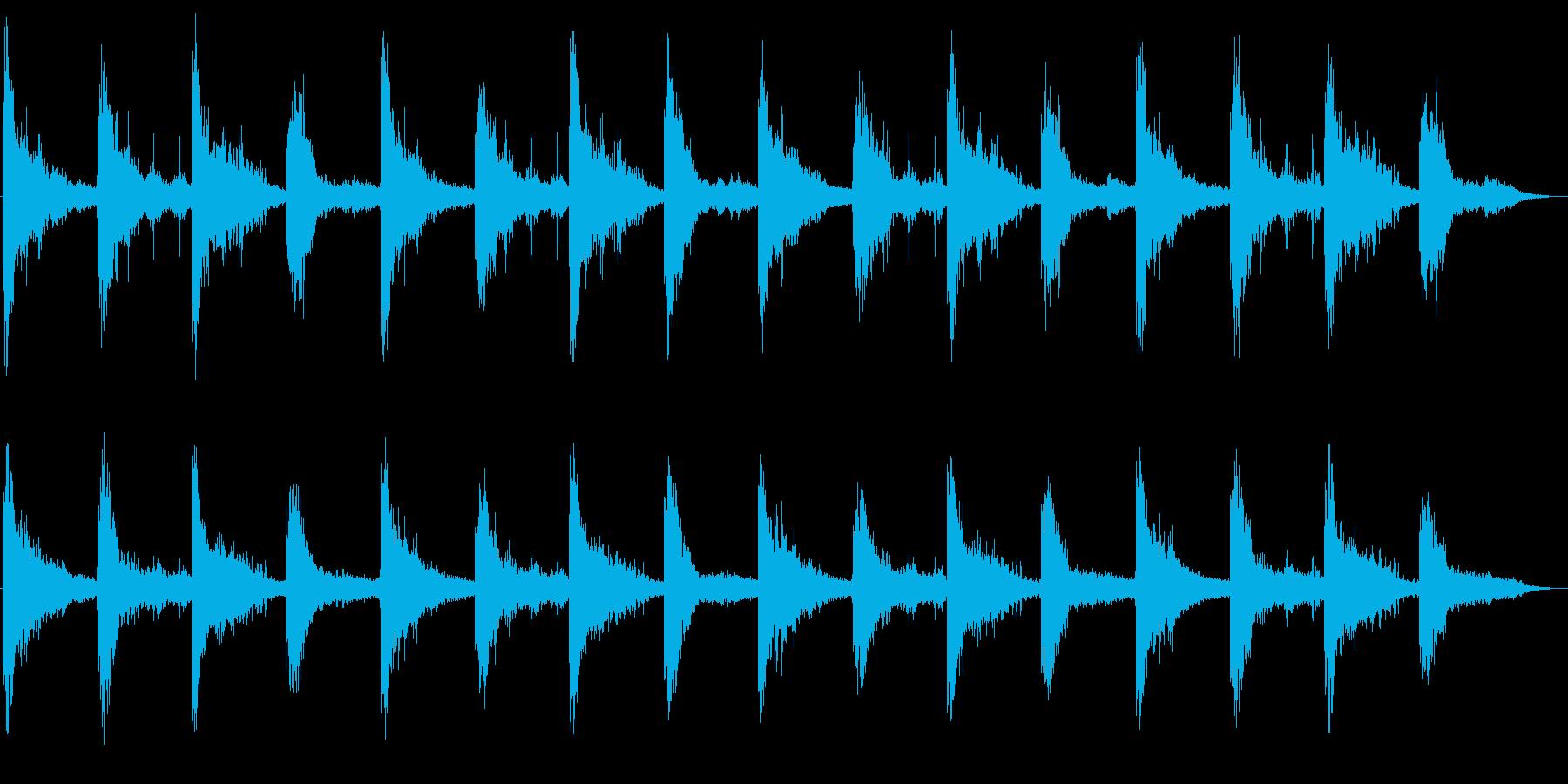 ホラー環境音(胎動、コウモリ、風、水)の再生済みの波形