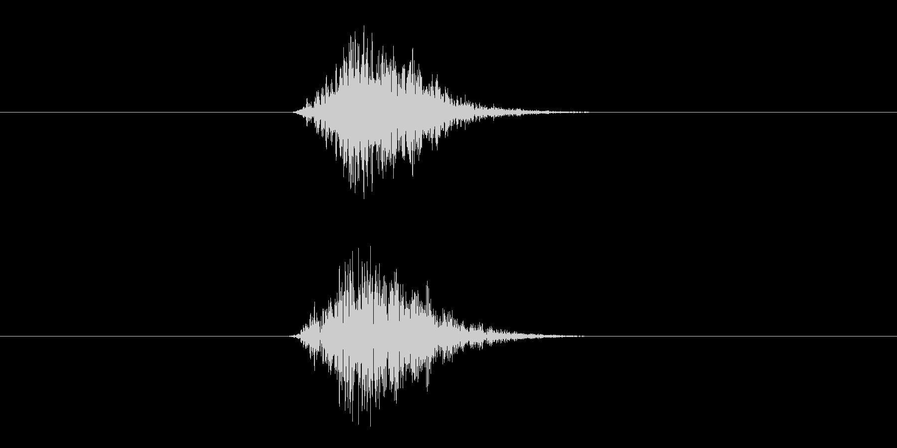 ブヘーン(もうヤダのリアクション音)の未再生の波形