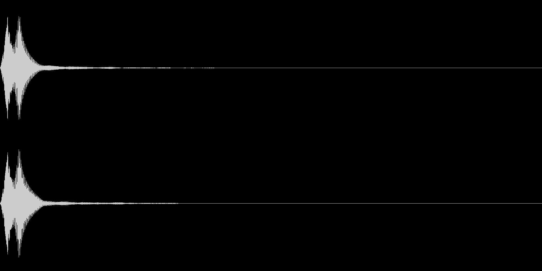 決定/UI/ピコッ/マレットの未再生の波形