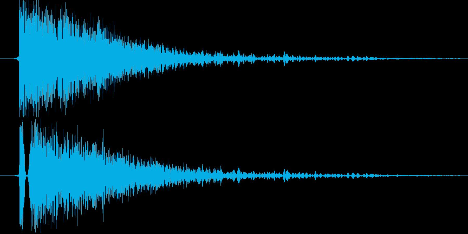 キンッ(金属系効果音)の再生済みの波形
