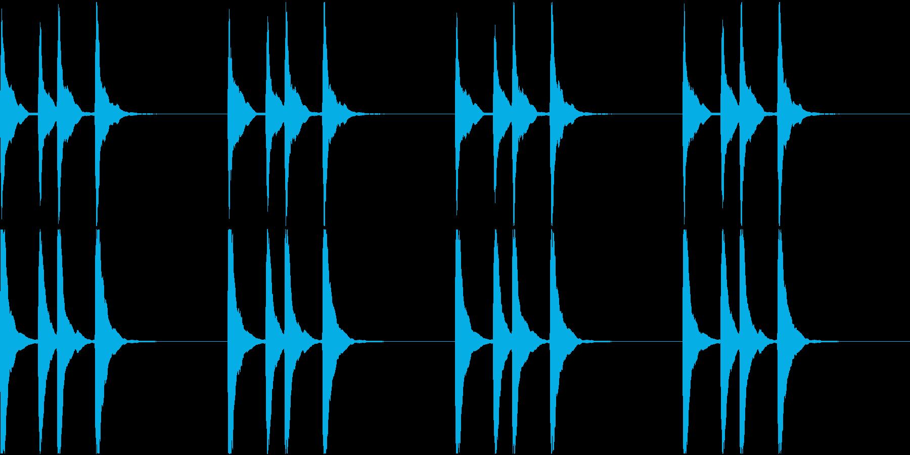 シンプル ベル 着信音 チャイム C-7の再生済みの波形