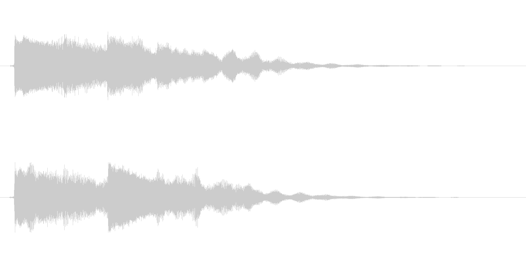 【起動音的な1】の未再生の波形