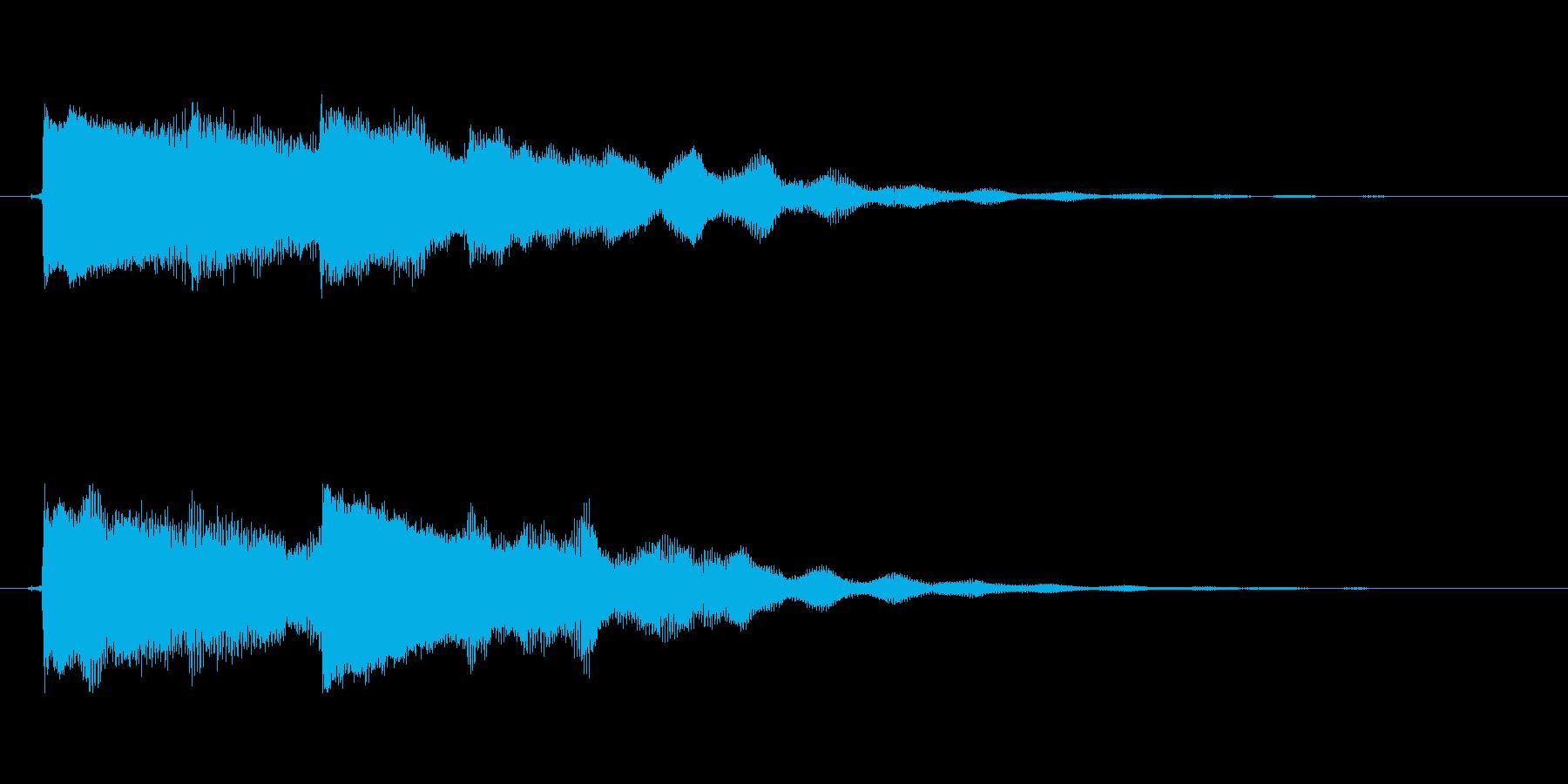 【起動音的な1】の再生済みの波形