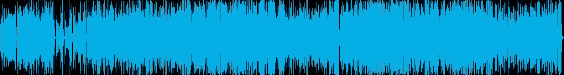 歪のベースサウンド 疾走感 BGMの再生済みの波形