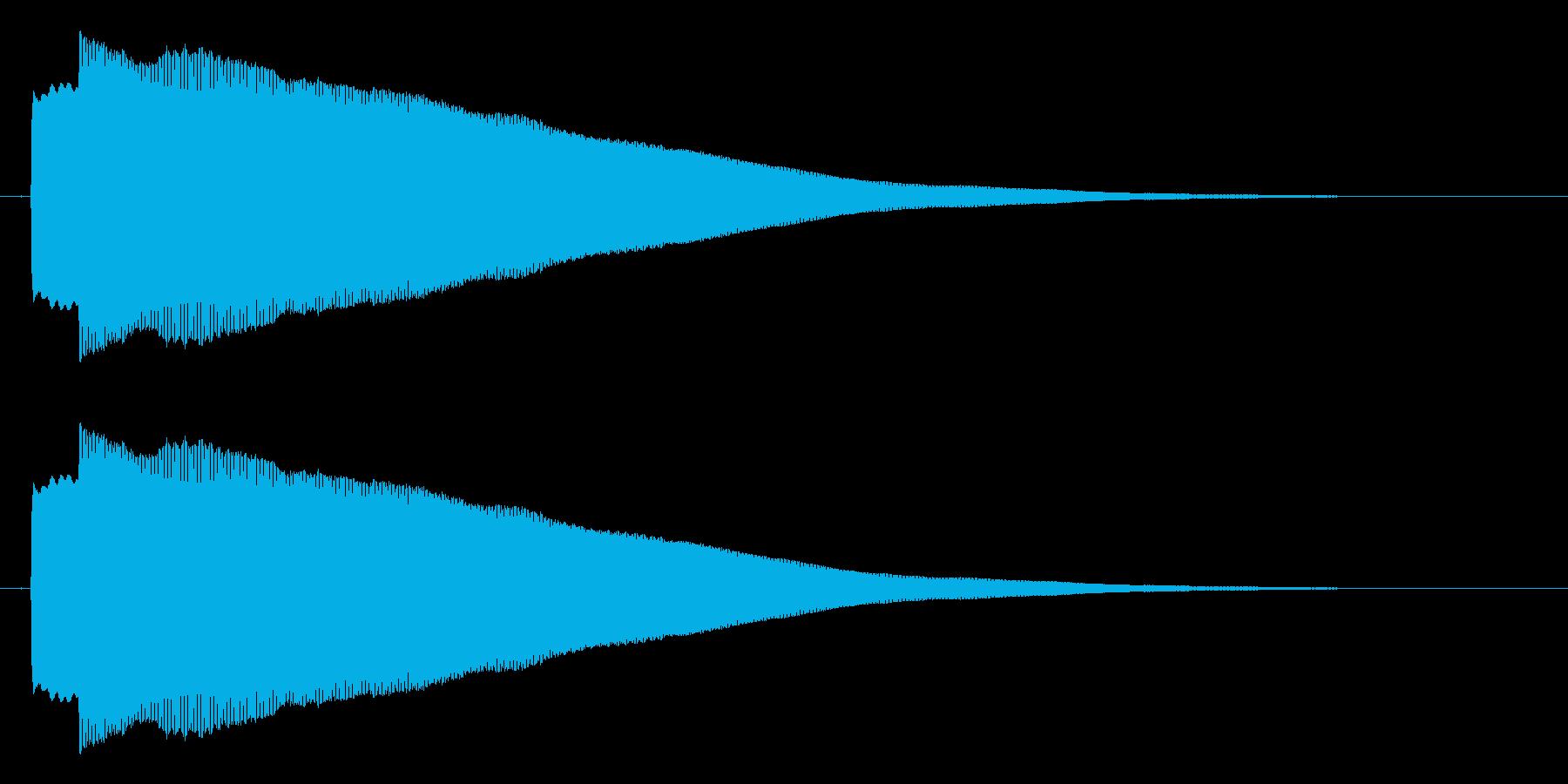 ピコー 決定 選択 セレクト効果音の再生済みの波形