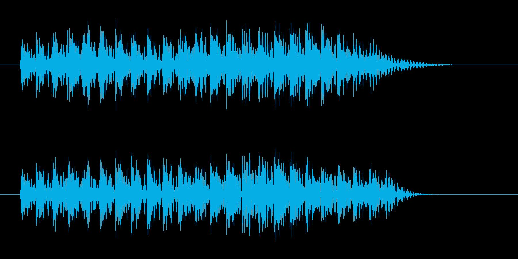 近未来の電子装置の動作音などに使えますの再生済みの波形