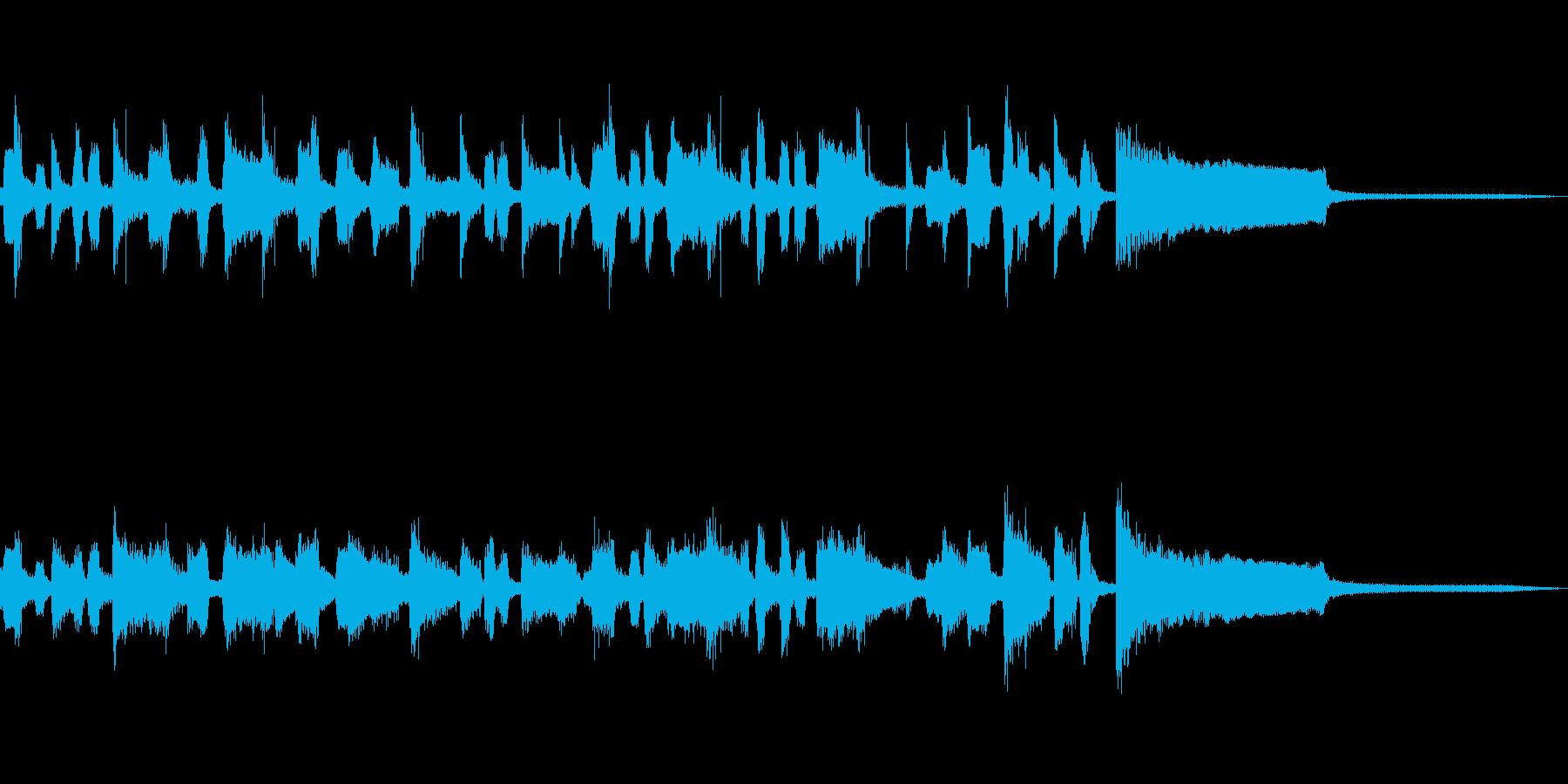 ガットギター&コンガにトロンボーンのソロの再生済みの波形