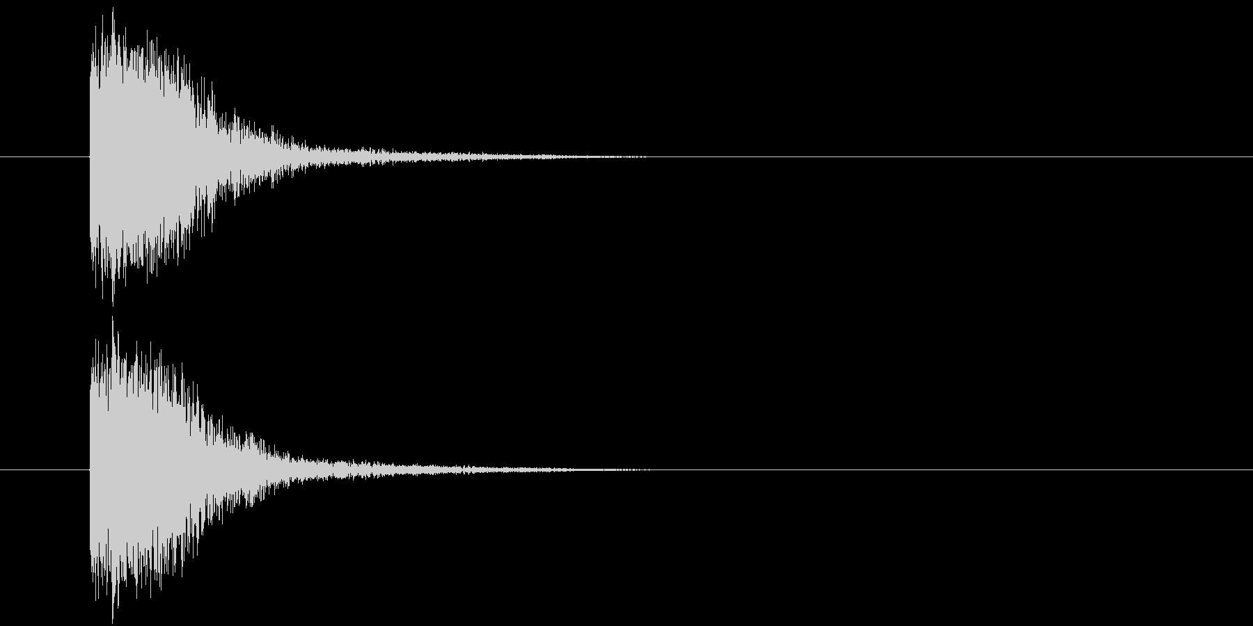 汎用_小インパクトの未再生の波形