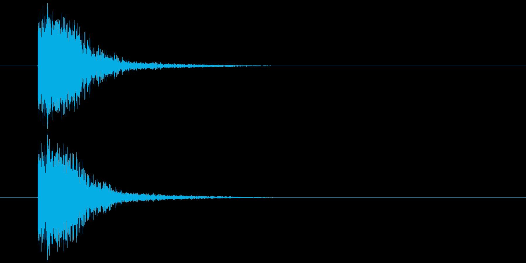 汎用_小インパクトの再生済みの波形