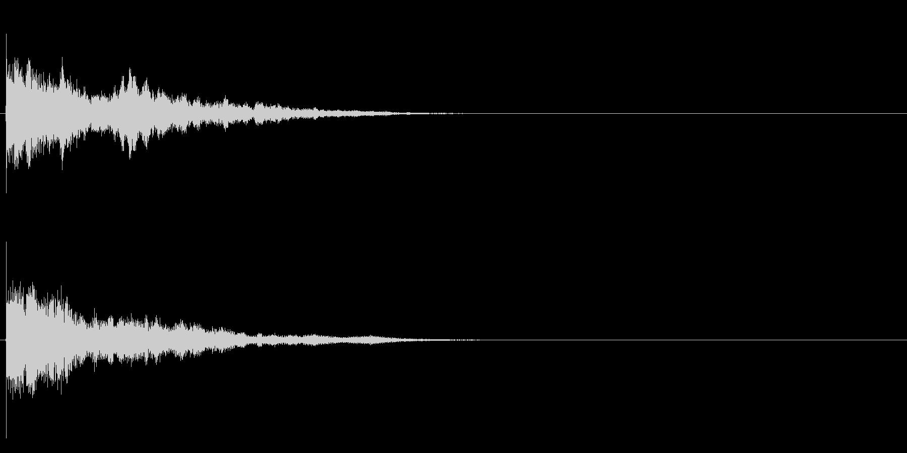 テロップ、ワンポイントの未再生の波形