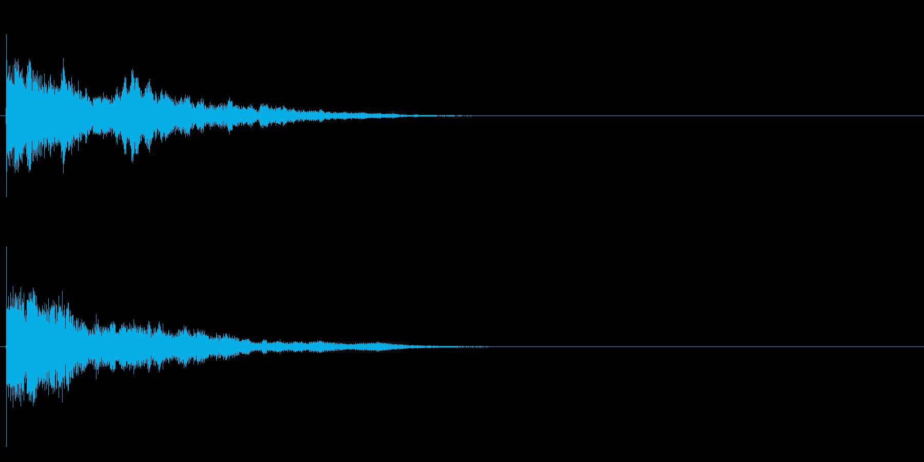 テロップ、ワンポイントの再生済みの波形