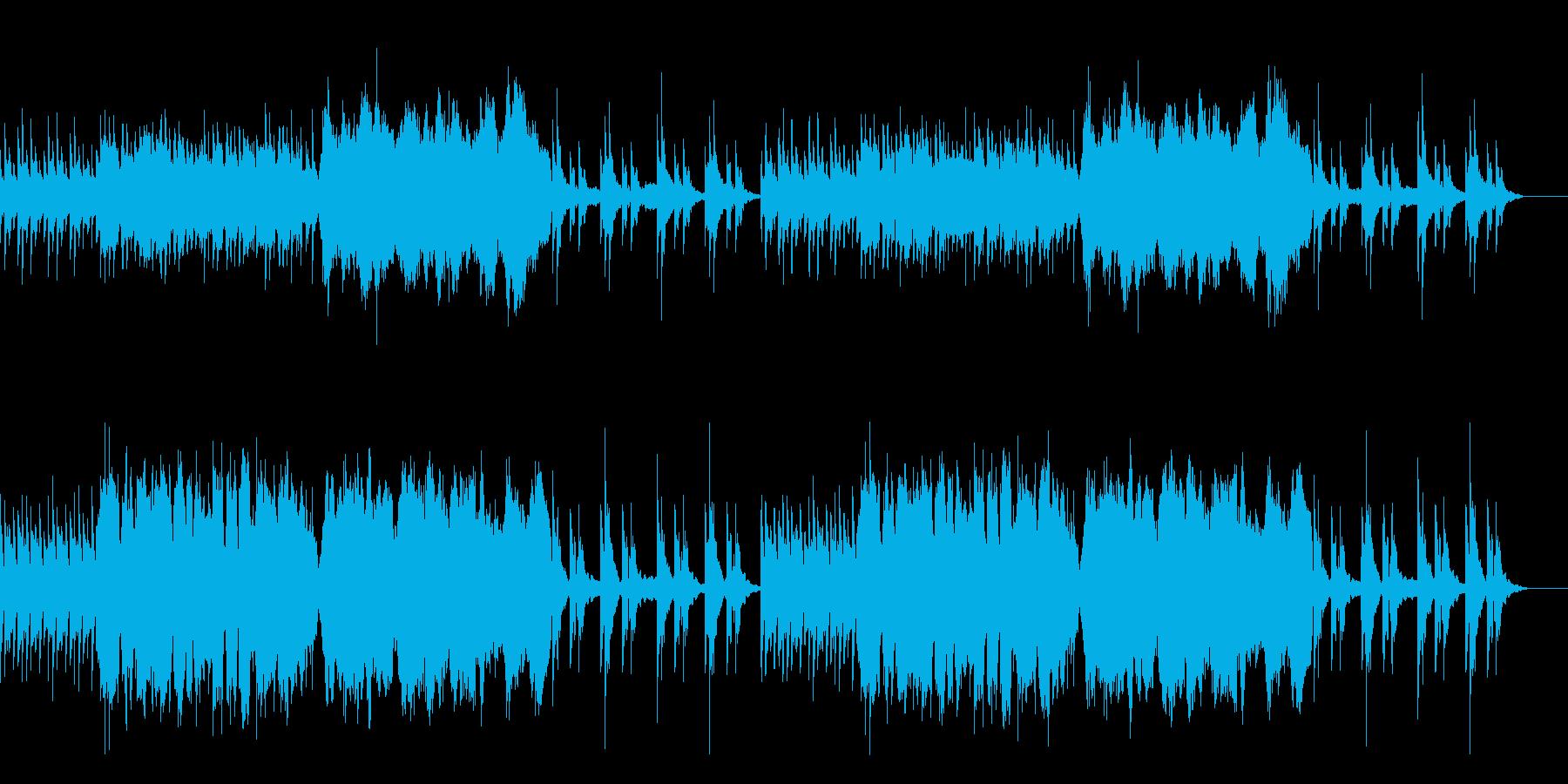 冷たく恐ろしいホラー向けBGMの再生済みの波形