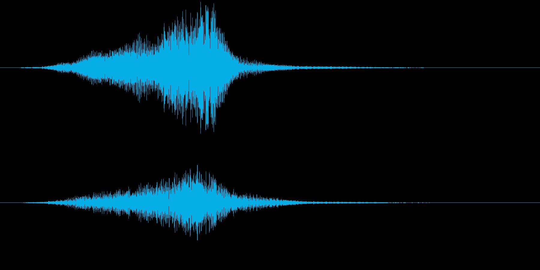 UFOか何かが高速で目前を通過していく音の再生済みの波形