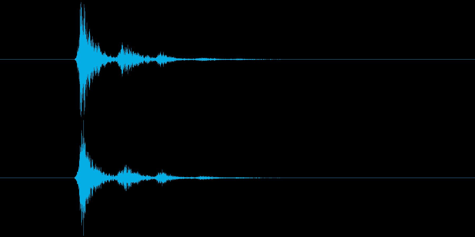 てゅくとぅどぅんいろんな物に使えそうな音の再生済みの波形