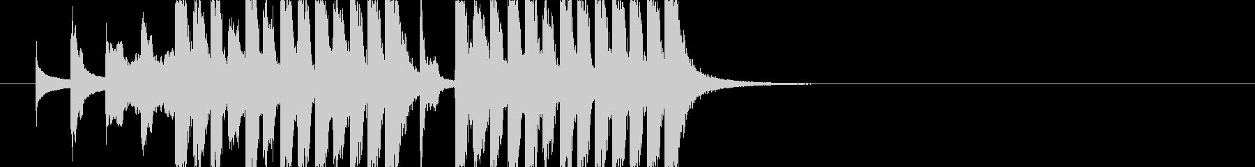 コミカルなジングル若年層コンテンツ J8の未再生の波形