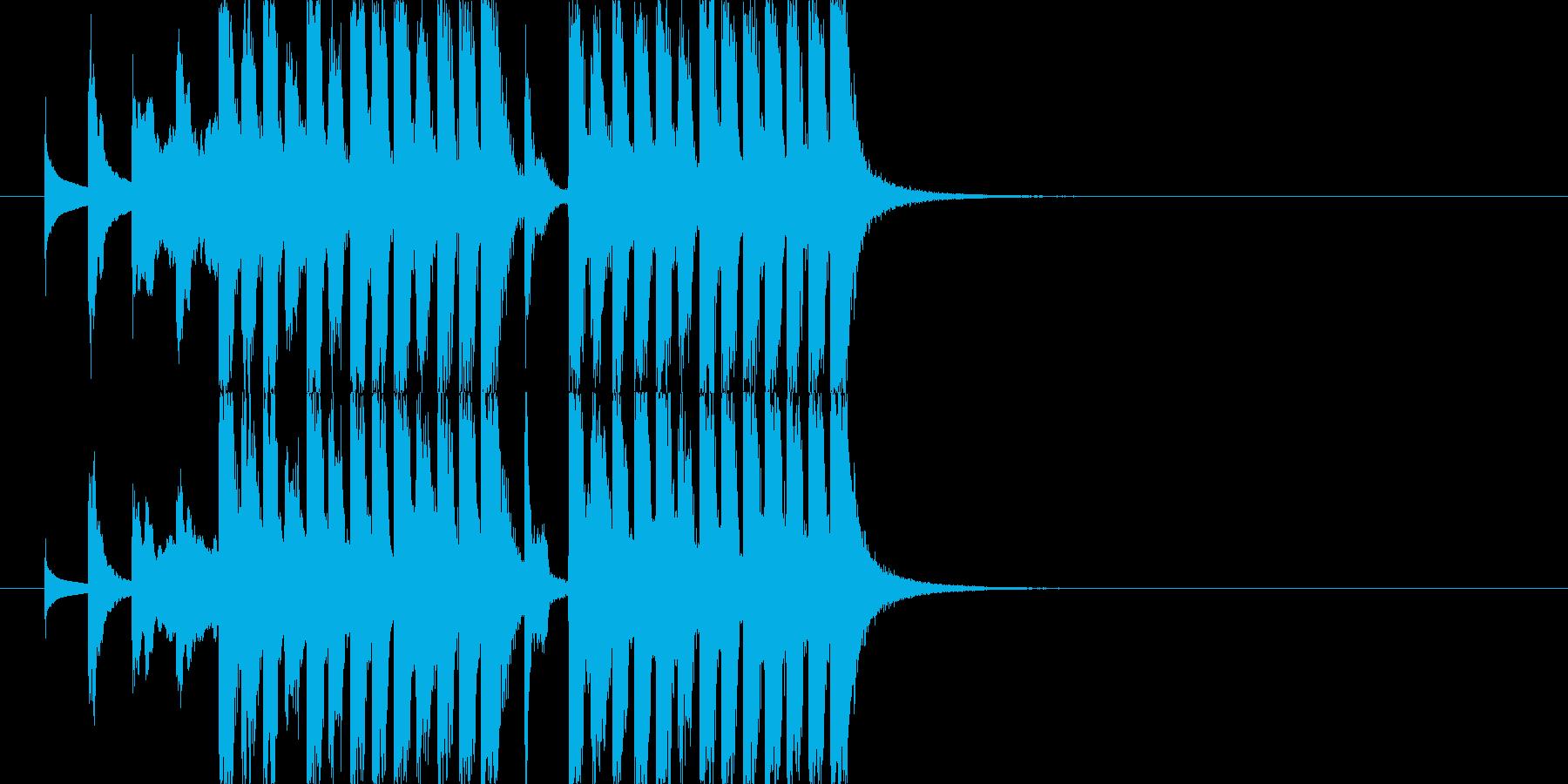 コミカルなジングル若年層コンテンツ J8の再生済みの波形