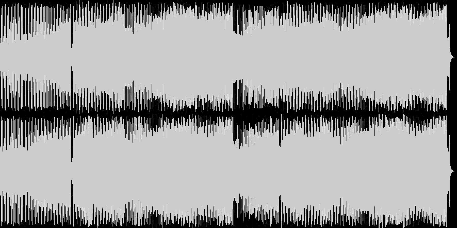 疾走感のあるシンセポップハウス系の未再生の波形