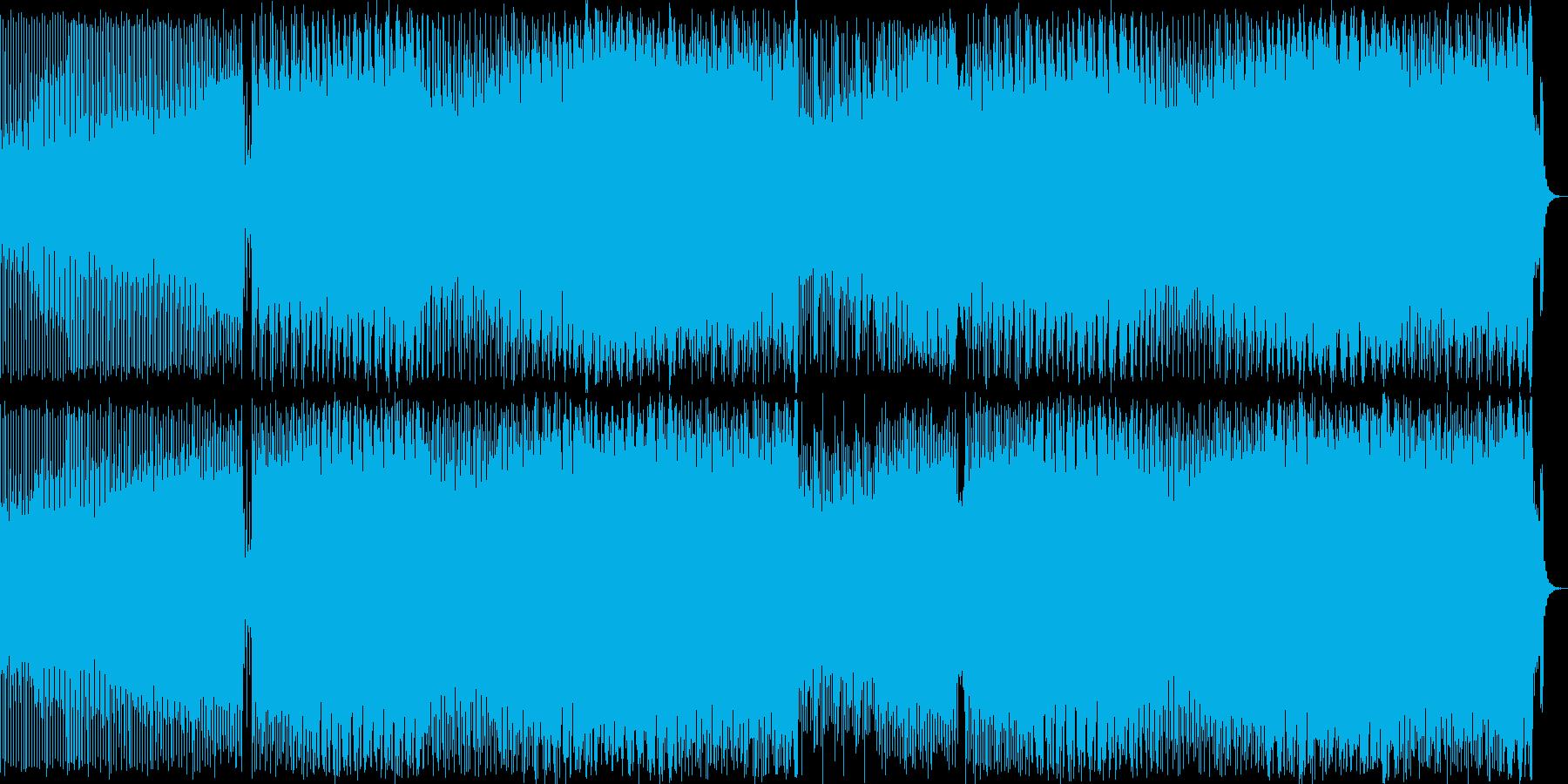 疾走感のあるシンセポップハウス系の再生済みの波形