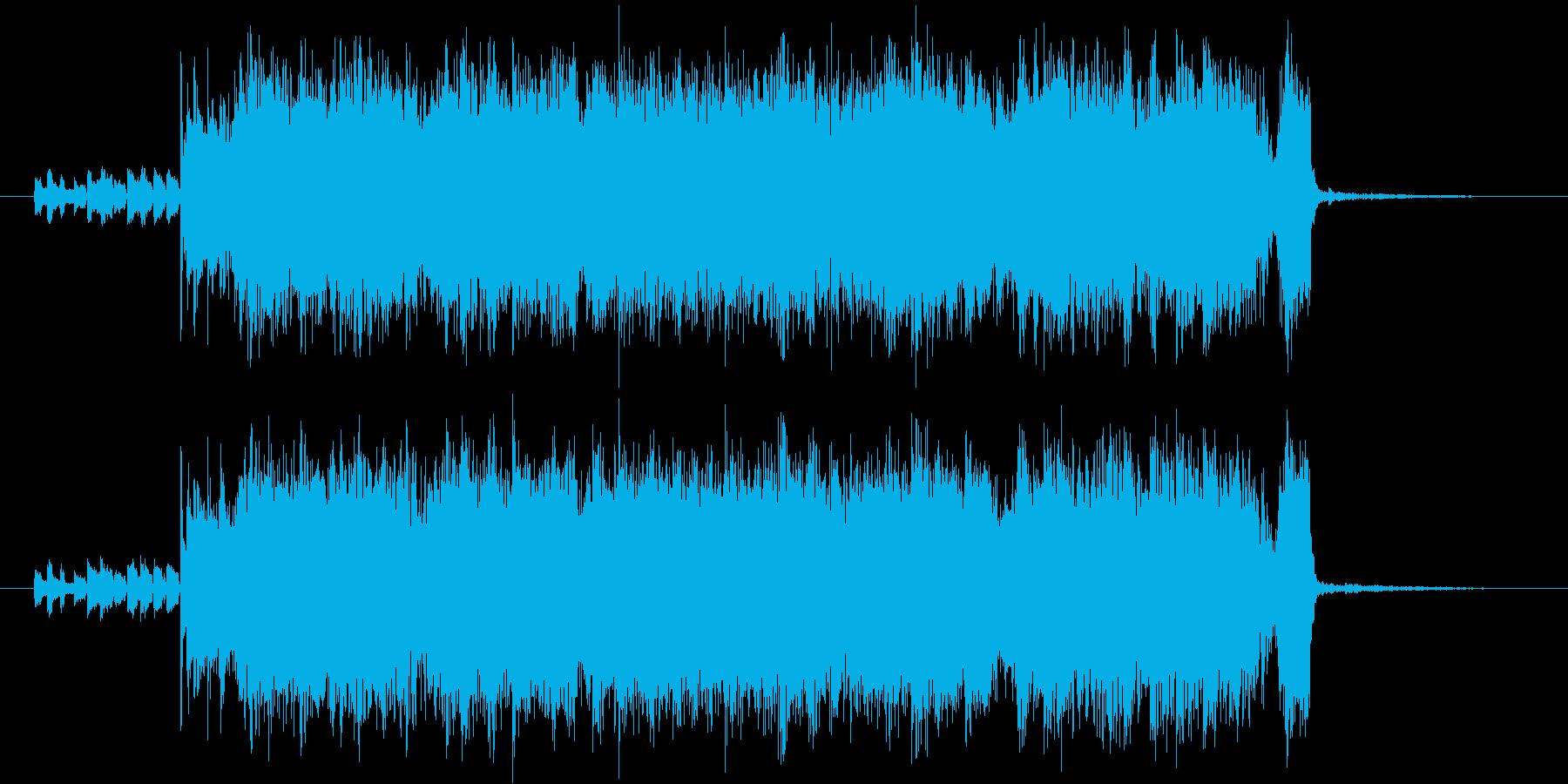 ヘビーなロックジングルの再生済みの波形