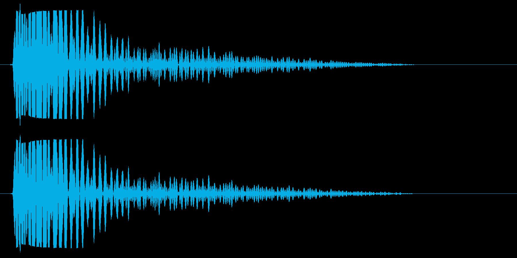 ボンッ(太鼓・ドラムのような音)の再生済みの波形