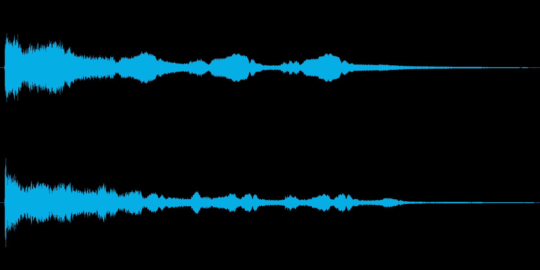 キラキラSE(キーン/補助魔法)の再生済みの波形