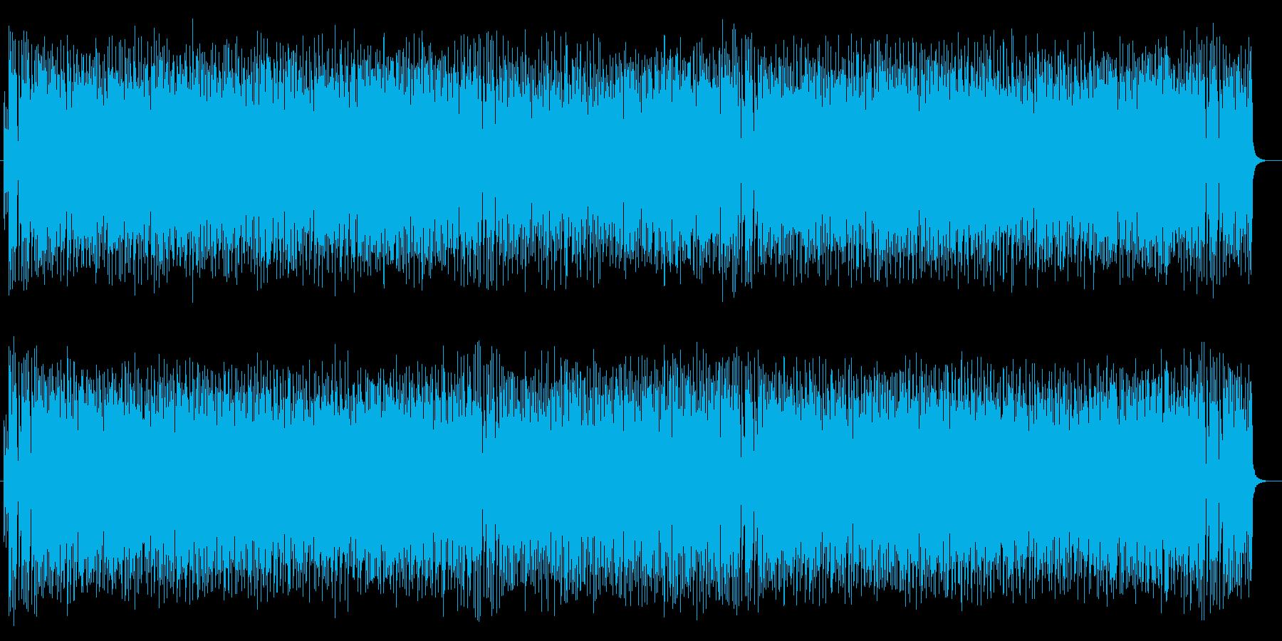 元気なドラムが特徴のポップスの再生済みの波形