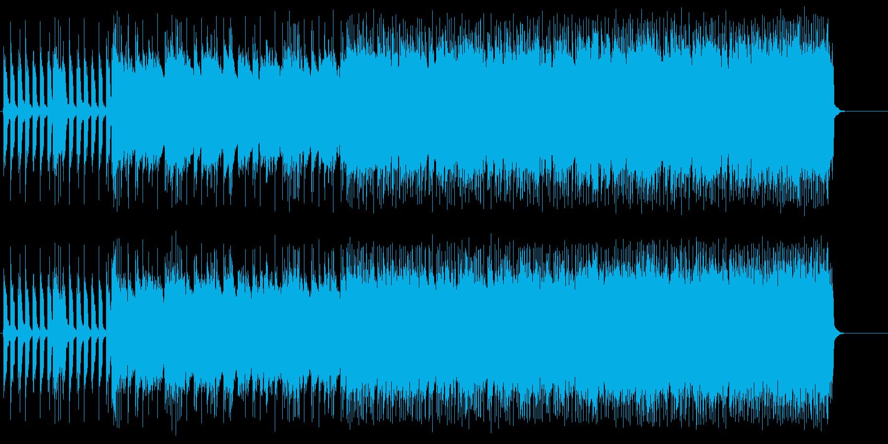 ヘヴィなギターがドライヴするハードロックの再生済みの波形