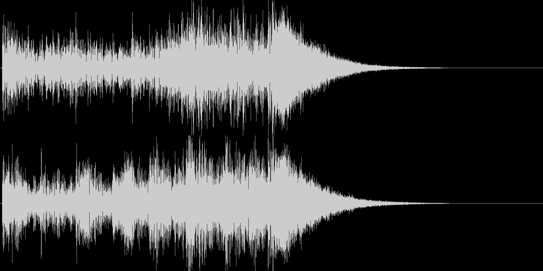 約4秒でシンバルが鳴るドラムロールの未再生の波形
