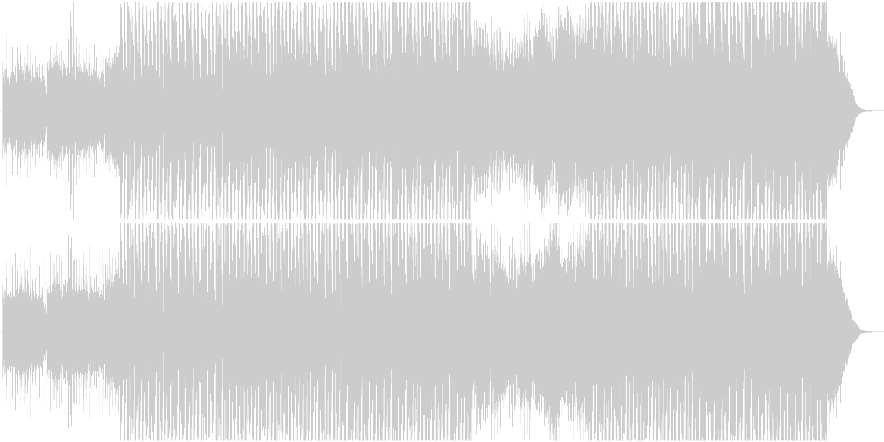 トロピカルでナチュラルなハウスの未再生の波形