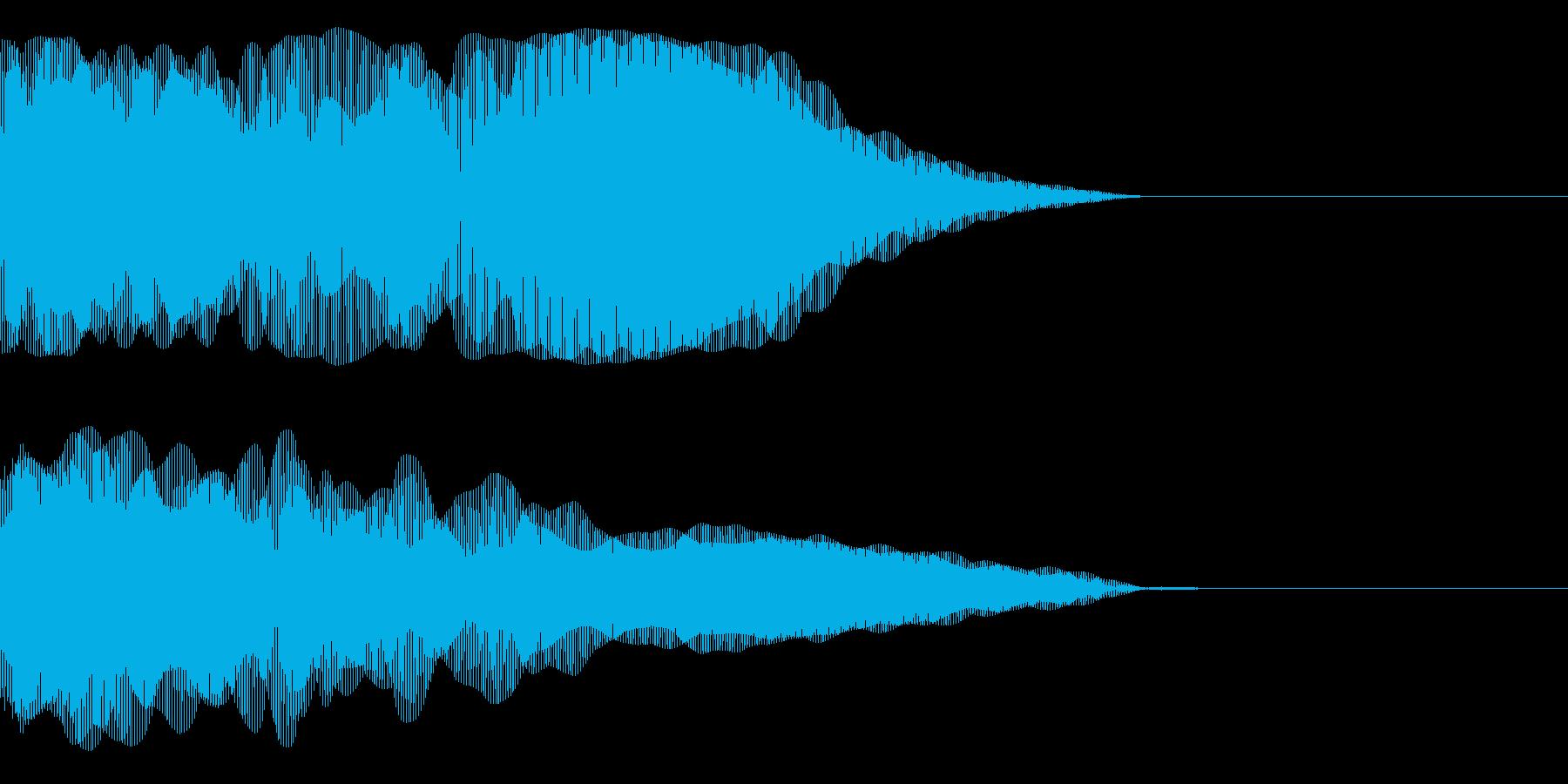 ブィーーーーーーーーンの再生済みの波形