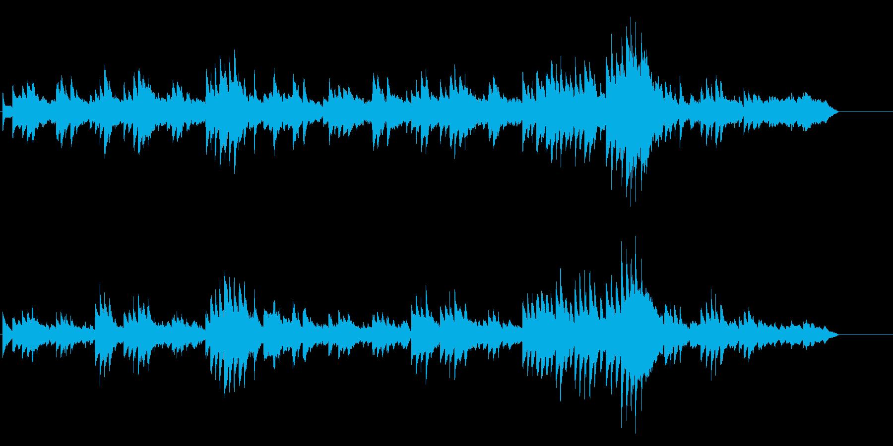 別れの曲ショパンピアノの再生済みの波形