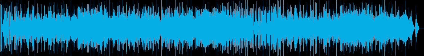 ゆっくり明るいボサノバジャズの曲の再生済みの波形