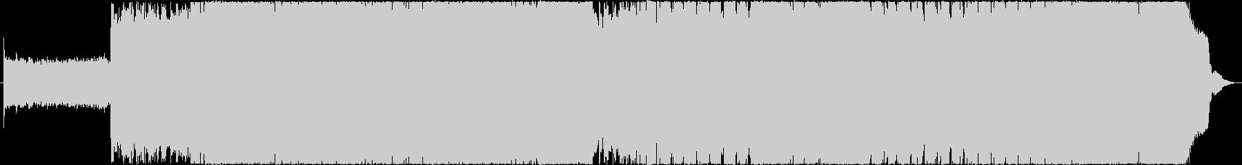 リフが特徴的なオリジナルハードロックの未再生の波形
