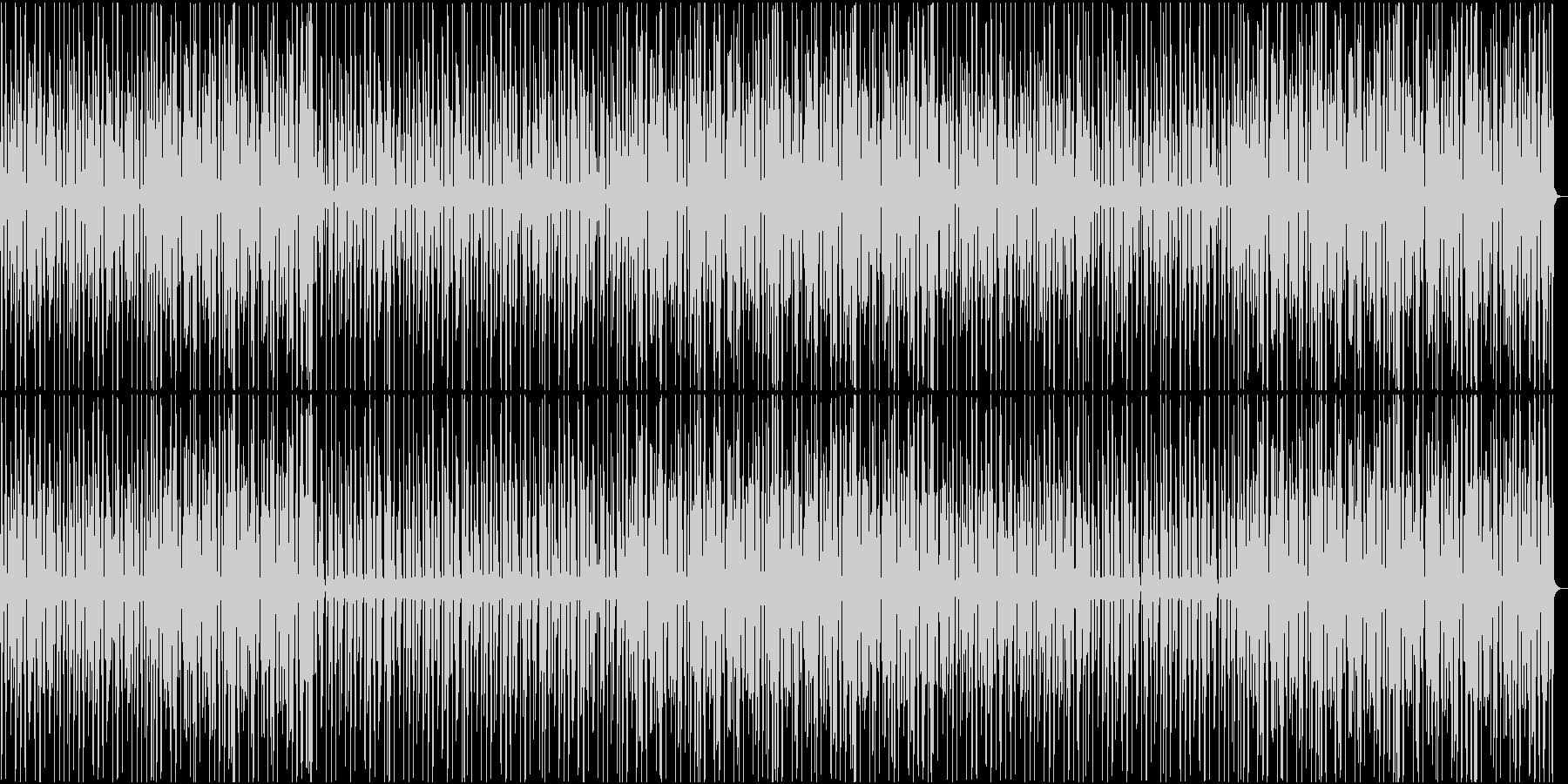不気味な雰囲気のテクノの未再生の波形