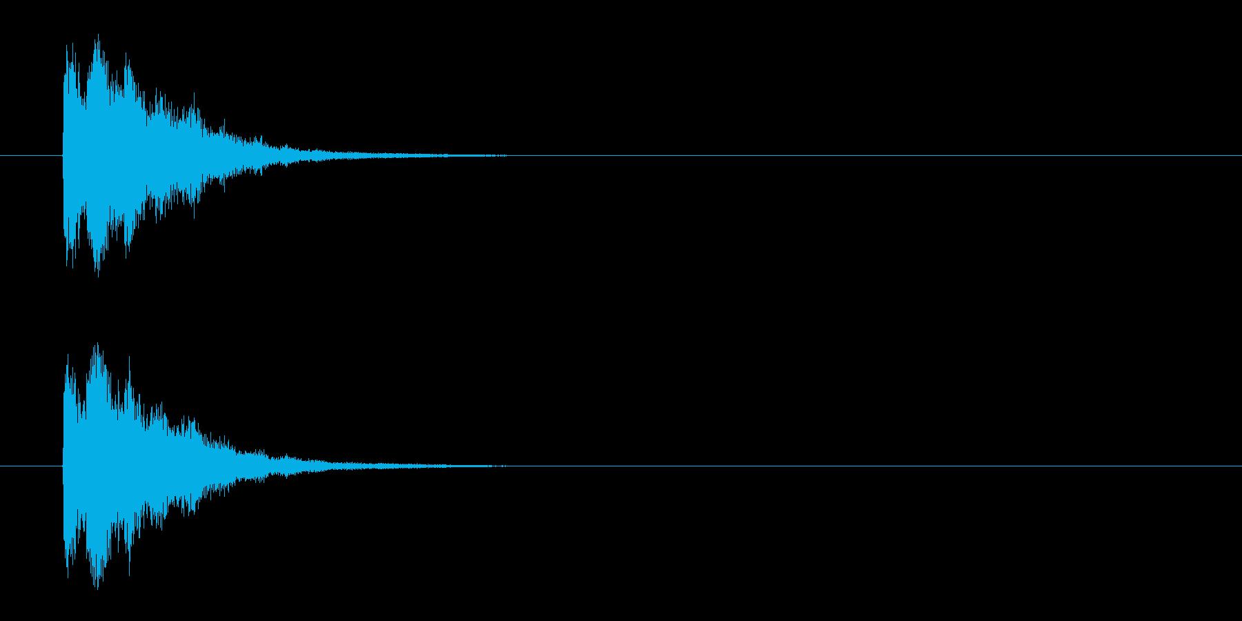 SEジングルの再生済みの波形