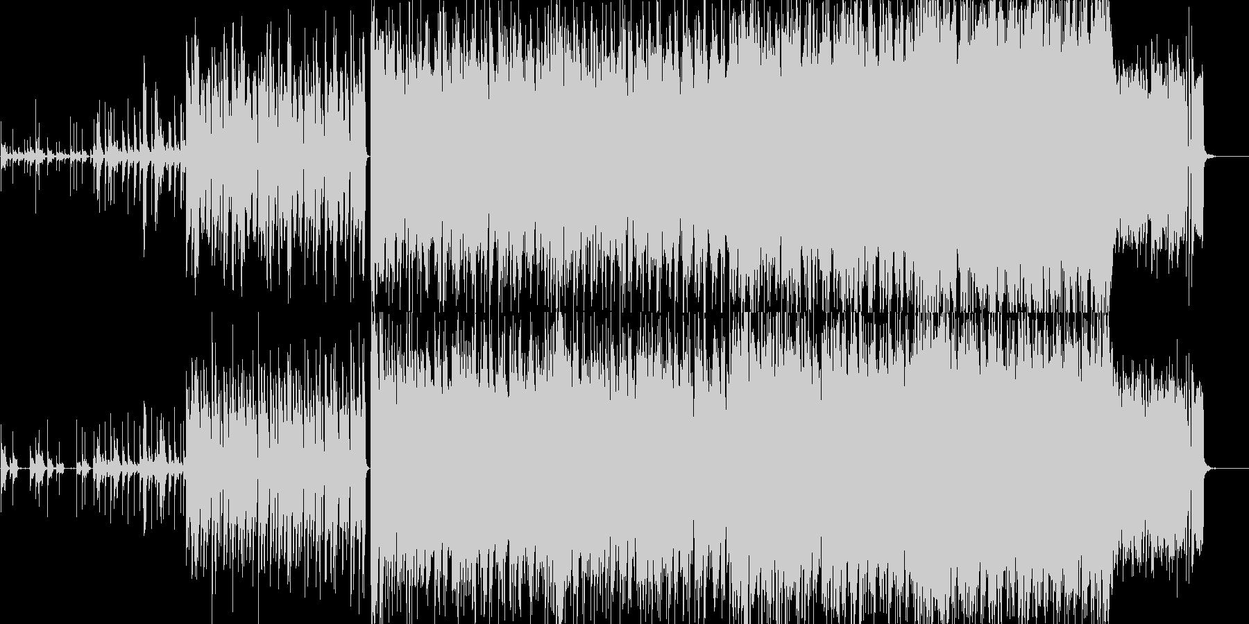 ドラムが特徴的な疾走感のあるインストの未再生の波形