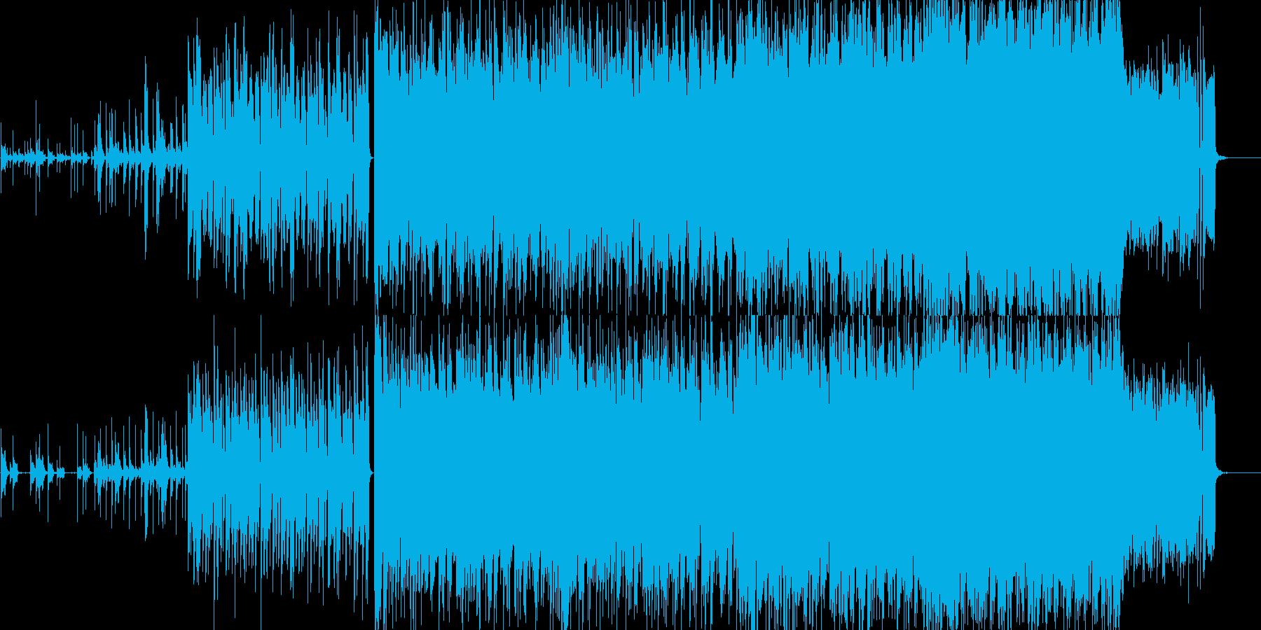 ドラムが特徴的な疾走感のあるインストの再生済みの波形